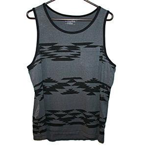 Tony Hawk XL Gray Black Pattern Tank Top